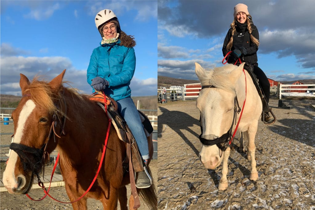 Wondering What to do in the finger lakes this winter? Try horseback riding!
