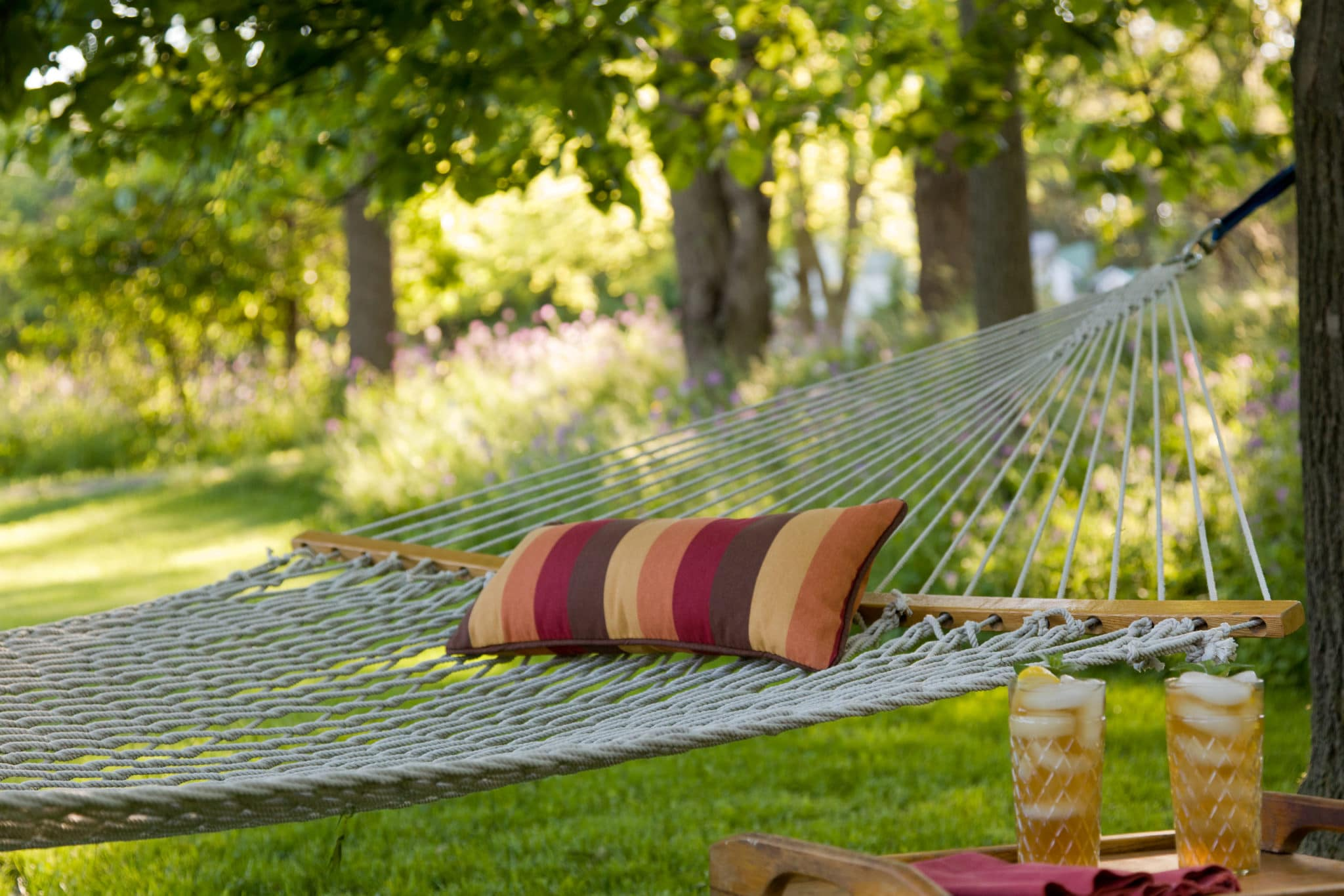 Relax in our hammock on the inn grounds